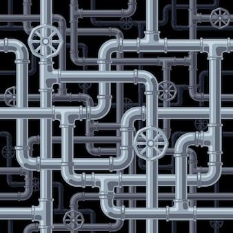 Fondo de tubos sin costura. organizado por capas. colores globales. gradientes gratis. las tuberías y los conectores se separan en grupos.