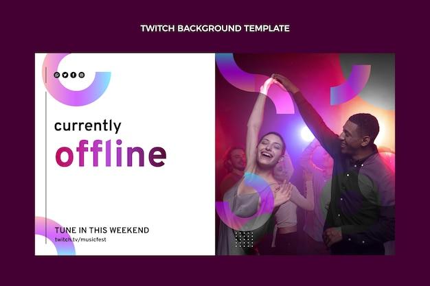 Fondo de twitch festival de música degradado