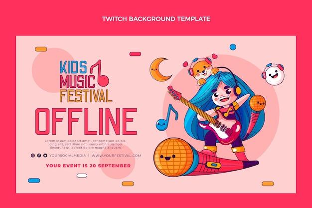 Fondo de twitch festival de música dibujado a mano