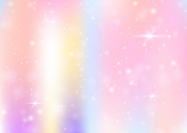 Fondo de unicornio con malla de arco iris.