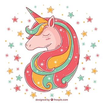 Fondo de unicornio multicolor