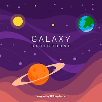 Fondo de universo y planetas