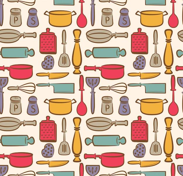 Fondo de utensilio de cocina