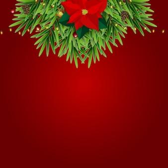 Fondo de vacaciones de año nuevo y feliz navidad ilustración eps10