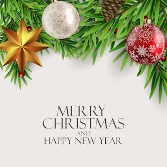 Fondo de vacaciones de año nuevo y feliz navidad. ilustración vectorial