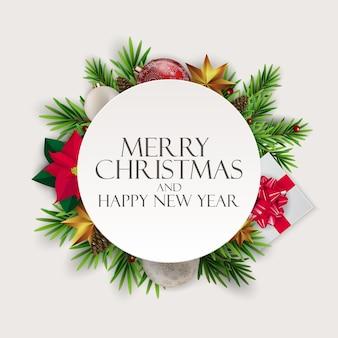 Fondo de vacaciones de año nuevo y feliz navidad