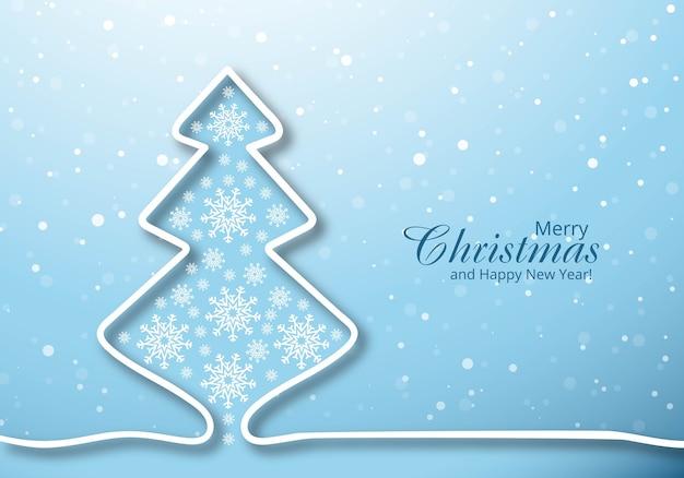 Fondo de vacaciones de celebración de tarjeta de árbol de navidad feliz