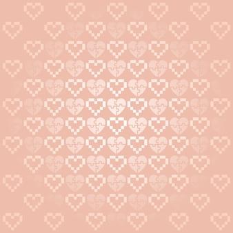 Fondo de vacaciones con corazones de color rosa