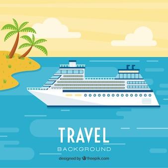 Fondo de vacaciones en un crucero