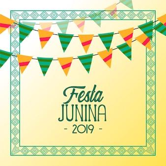 Fondo de vacaciones de fiesta junina 2019