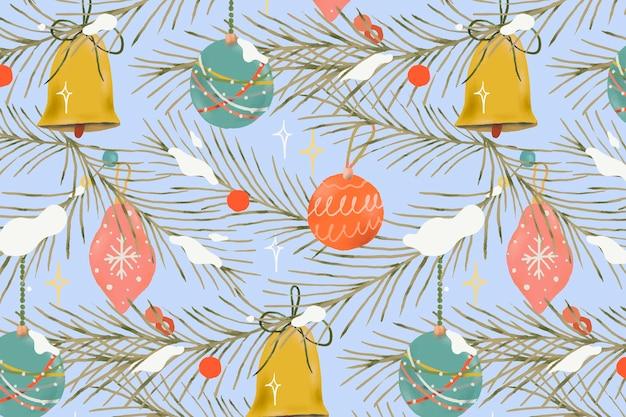 Fondo de vacaciones de invierno, navidad de patrones sin fisuras, lindo vector de ilustración