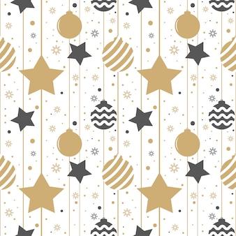 Fondo de vacaciones, patrón transparente con estrellas.