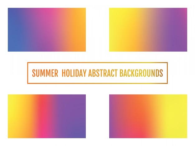 Fondo de vacaciones de verano, fondo abstracto conjunto de festivo