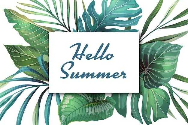 Fondo de vacaciones de verano con lugar para texto
