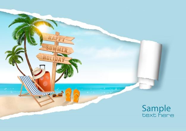 Fondo de vacaciones de verano. .