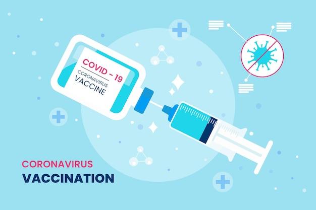 Fondo de vacuna de coronavirus de dibujos animados
