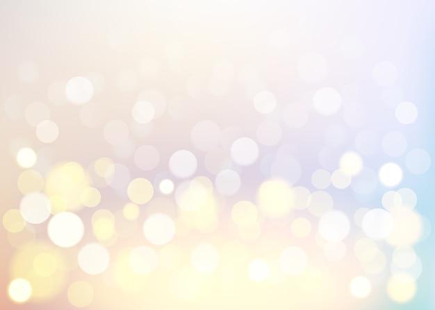 Fondo de vainilla bokeh, abstracto con luces desenfocadas.