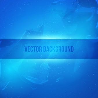 Fondo de vector abstracto azul