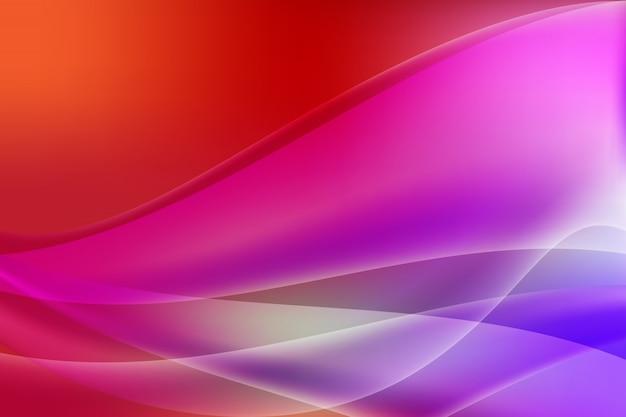 Fondo de vector abstracto de color degradado de onda