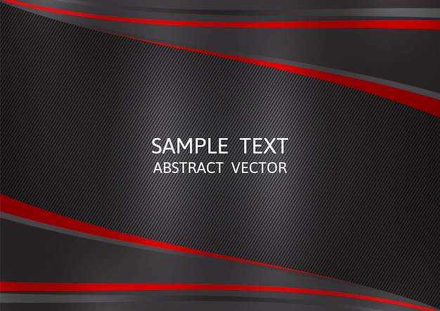 Fondo de vector abstracto de color negro y rojo