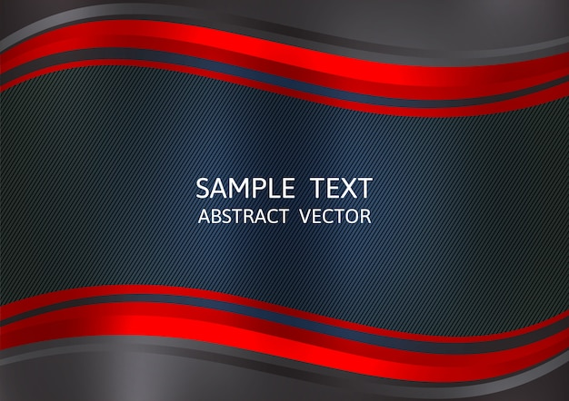Fondo de vector abstracto de color rojo y negro