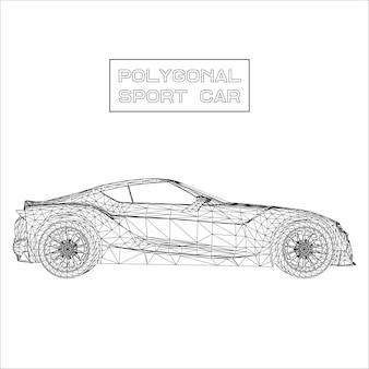 Fondo de vector abstracto concepto creativo del modelo de coche 3d. coche deportivo.