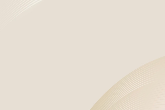 Fondo de vector abstracto curva beige