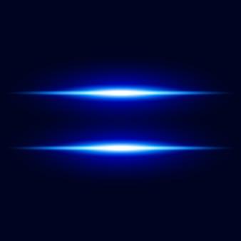 Fondo de vector abstracto efecto de luz azul