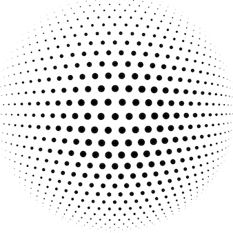 Fondo de vector abstracto esfera de semitono