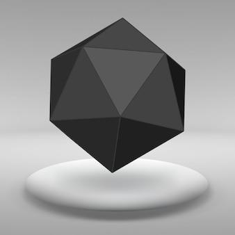 Fondo de vector abstracto de formas geométricas en el gran estudio