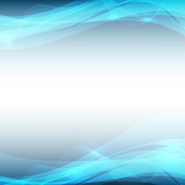 Fondo de vector abstracto de onda azul
