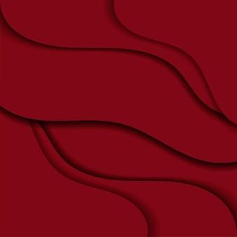 Fondo de vector abstracto ondulado rojo estampado