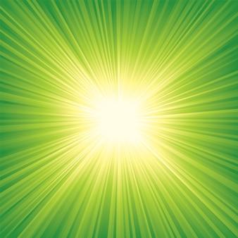 Fondo de vector abstracto con rayos de sol