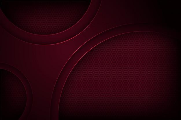 Fondo de vector abstracto rojo oscuro con superposición