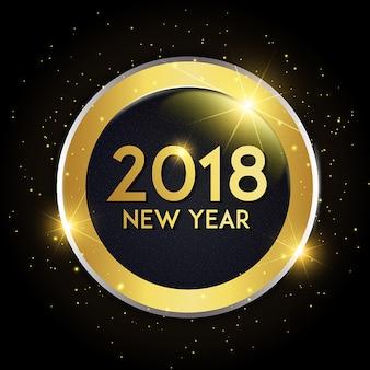 Fondo de vector año nuevo 2018