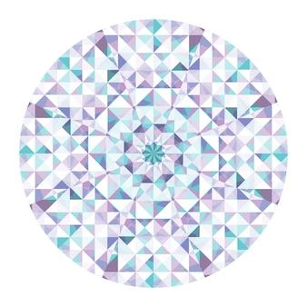 Fondo de vector de caleidoscopio. patrón de baja poli geométrica abstracta. fondo claro del triángulo. elementos geométricos del triángulo. fondo triangular abstracto. caleidoscopio geométrico vectorial.