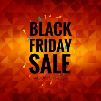 Fondo de vector de cartel colorido venta de viernes negro