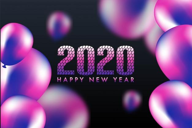 Fondo de vector de celebración feliz año nuevo 2020.