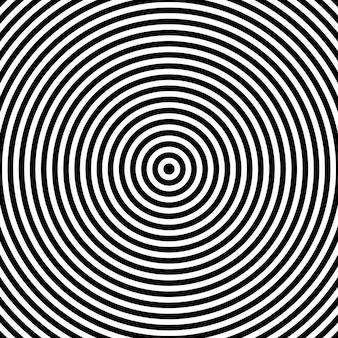 Fondo de vector de círculo de rayas, patrón abstracto. gráficos circulares radiantes aislados en blanco