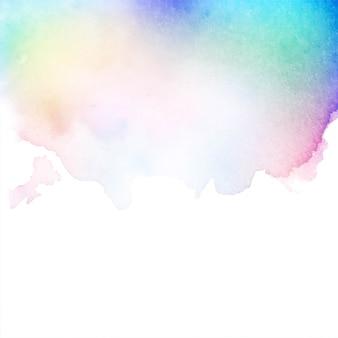 Fondo de vector colorido acuarela abstracta