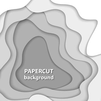 Fondo de vector con corte de papel blanco