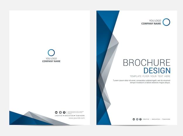 Fondo de vector de diseño de folleto plantilla flyer