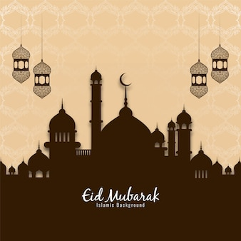 Fondo de vector elegante eid mubarak