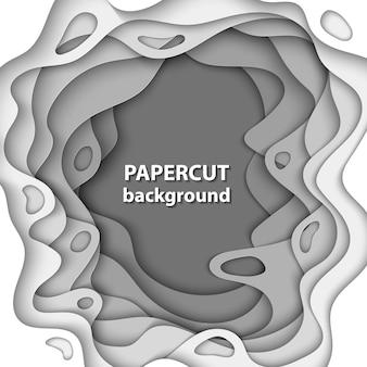 Fondo de vector con formas de corte de papel blanco