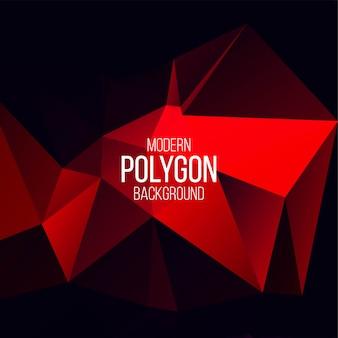 Fondo de vector geométrico poligonal abstracto