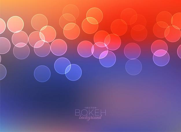 Fondo de vector de luz bokeh colorido