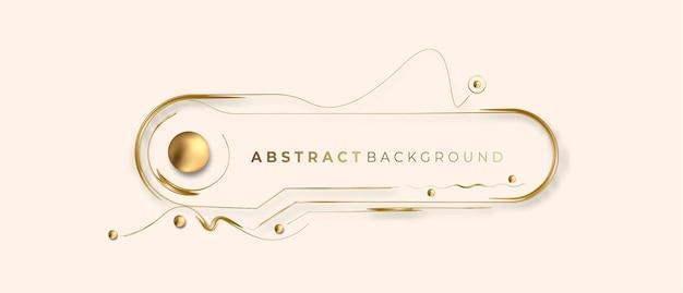 Fondo de vector de marco de foto brillante brillante dorado abstracto. uso para diseño moderno, portada, póster, plantilla, folleto, decorado, volante, pancarta.