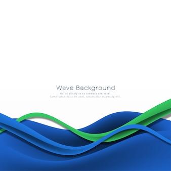 Fondo de vector de onda azul elegante abstracto