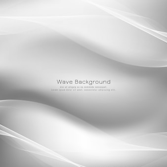 Fondo de vector de onda gris brillante abstracto