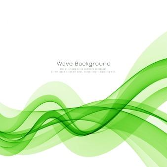 Fondo de vector de onda verde con estilo